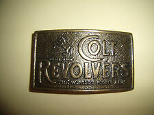 OFFICIAL BRASS COLT REVOLVERS BELT BUCKLE