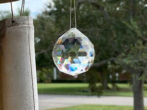 Crystal Prism Ball Globe Rainbow Maker Window Prisms Suncatcher 45mm US Seller!