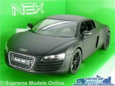 AUDI R8 COUPE MODEL CAR 1:24 SCALE BLACK WELLY OPENING PARTS LARGE SPORTS K8