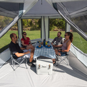 Connect Tent Canopy Outdoor Screen House W/ 2 Doors Camping Travel Trail 7Person