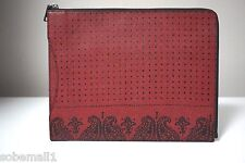Coach Crossgrain Leather Red Bandit Printed Slim Zip Tablet Case Folio F63321