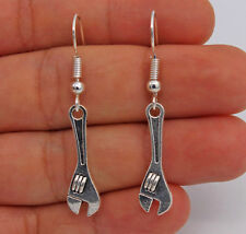 "925 Silver Plated Hook - 1.6"" Funny Plier Wrench Waterdrop Pageant Earrings #61"
