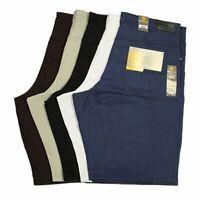 Mens Big King Size Kam Stretch Shorts in Black White Navy Burgundy Colours 40-70