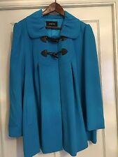 Beautiful Coat In a Gorgeous Turquoise/blue Sz 18