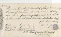 Stamp Receipt for Half Yearly Rent 1869 by Baldwin Esq. to E.S. Gooch Ref 32651