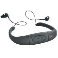 Waterproof FM Radio 8GB All in One MP3 Player and Headphones for Swimming Balck