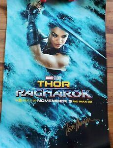 Thor Ragnarok Poster Signed by Tessa Thompson Valkyrie Marvel Avengers 18.5 x 27