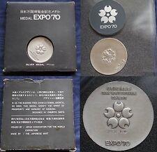 MONETA COIN MONNAIE JAPAN GIAPPONE MEDAL EXPO 1970 OSAKA SILVER ARGENTO SILBER 2