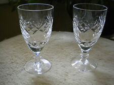 GEORGIAN DOULTON  CRYSTAL SHERRY GLASS  PAIR discontinued Line British (ref41)