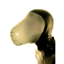 Sexy Latex Full Face Hood Semi-Transparent Face Rubber Hood Unisex for Men Women