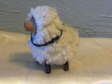 SHEEP CHRISTMAS ORNAMENT wood face