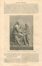 Pereire Enseignant les Sourds-Muets par Émile-François Chatrousse GRAVURE 1867