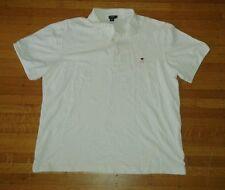 J Crew White Pique Polo w/BBQ Grill Logo Sz XL
