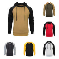 Men Athletic Hoodie Workout Sweatshirts Fleece Sweater Casual Warm Coat