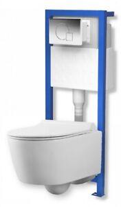 Domino Lavita Vorwandelement +Drückerplatte +Wand-WC Giant +Soft-Close WC-Sitz