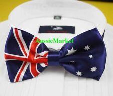 1 x mens girls silk bow tie bowtie aussie australian flag australia suit shirt