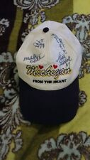 "Michigan hat ""from the heart"" autographs"