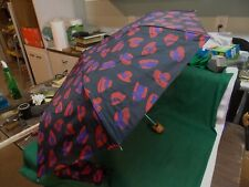 Totes Red Hat Society purple black umbrella. New.
