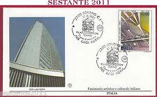 ITALIA FDC FILAGRANO PIER LUIGI NERVI PALAZZO ESPOSIZIONI 1991 ANN. SONDRIO T883