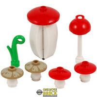 Mushroom and Toadstool pack - 4 mushrooms & 2 toadstools | All parts LEGO