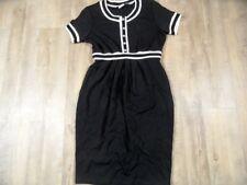 JUS D`ORANGE chices Jerseykleid schwarz creme Gr. 2 NEU ZC1217