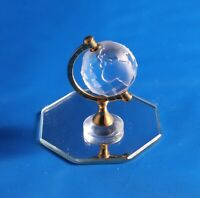 Stunning Rare Retired Swarovski Crystal Memories Globe Frosted and Gold 199455