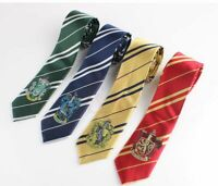Harry Potter Tie Costume Gryffindor Slytherin Hufflepuff Cosplay Halloween Decor