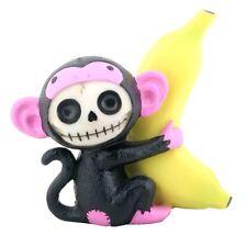 Furry Bones Figurine - Black Munky - New In Box Skeleton Face In Costume