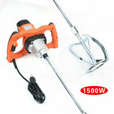 1500w Electric Mortar Mixer 6 Speed Paint Cement Grout Mortar Mixing Machine