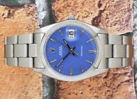 Gents Stainless Steel Vintage Rolex Oysterdate Precision 6694 - Purple Dial.