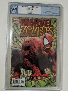 Marvel Zombies 1 PGX 9.4 Arthur Suydam Spider-Man #1 homage Variant cover