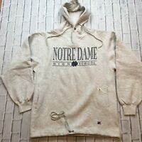 90s VTG nwt Russell Athletic NOTRE DAME HS Fighting IRISH L Hoodie Sweatshirt