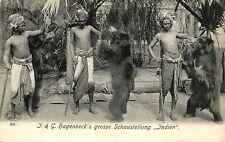 """Carl Hagebeck`s Tierpark, Grosse Schaustellung """"Indien"""" mit Bären, um 1910/20"""