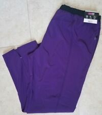 New ScrubStar Women Fashion Drawstring Scrub Pants Stretch Purple Plus sz 2Xl