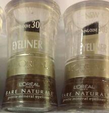 2 X L'Oreal Bare Naturale Gentle Mineral Eyeliner Defining Olive #303 NEW.