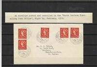 north eastern travelling post office night up 1959 stamps cover ref 7927