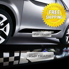 SPORTS DOOR LINE Decal Stickers Black&Chrome For KIA CERATO FORTE KOUP 2010-2012
