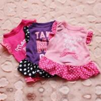 MOMMY'S LITTLE ANGEL Take Me Out Love Dress Pink Ruffled Dog Pet Size XS Small M