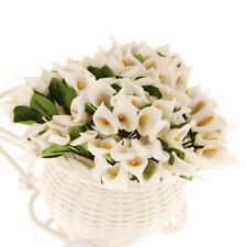 144Pcs Real Touch Artificial Flower Mini Calla Lily Wedding Home Decor Cream