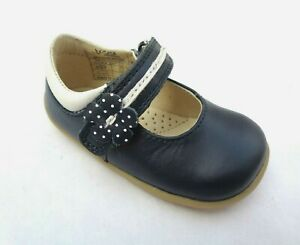GIRL INFANT TODDLER BOBUX STEP UP NAVY LEATHER PRETTY PARIS FIRST SHOES UK2/EU18