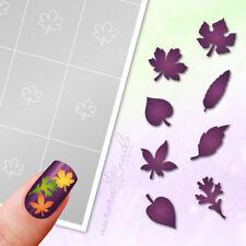 Schablonen für Airbrush und NAILART - Set 8x 20 Stk Herbst Blatt Blätter klebend