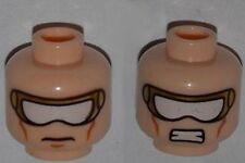 LEGO - Minifig, Head w/ Gold & White Goggles & Cheek Lines (Nova)