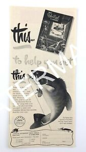 1951 Rod and Reel in Canada Fishing Vacations Unlimited Travel Ad Print Ad 101A