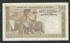 GERMANY OCC SERBIA-CIRCULATED PAPER MONEY-500 din-1941.