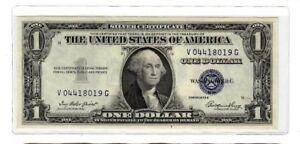 1935-E $1 CHOICE Uncirculated SILVER CERTIFICATE V0441801G M7747/5721