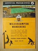 Football Leg Div 1- WOLVERHAMPTON WANDERERS v SHEFFIELD UNITED, 28 Nov 1964