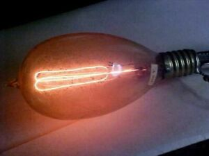 ANTIQUE LIGHT BULBs 100+ YEAR OLD 3 COLORED CARBON FILAMENT TIPPED C7