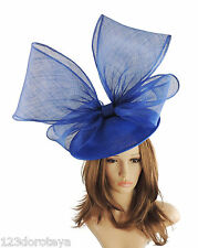 Royal Blue Fascinator Hat for weddings/ascot/proms With Headband G6