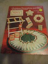 Christmas Decorations & Gifts Swedish Weaving on Huck Patterns Vtg. 1980 Vgc