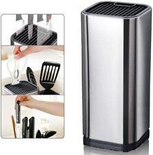 Messerblock Aufbewahrung Abstandhalter Küchenmesser Edelstahl Küchenzubehör